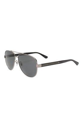 Мужские солнцезащитные очки GUCCI разноцветного цвета, арт. GG0528 007 63 | Фото 1
