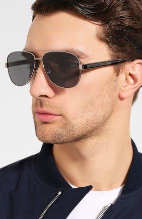 Мужские солнцезащитные очки GUCCI разноцветного цвета, арт. GG0528 007 63 | Фото 2