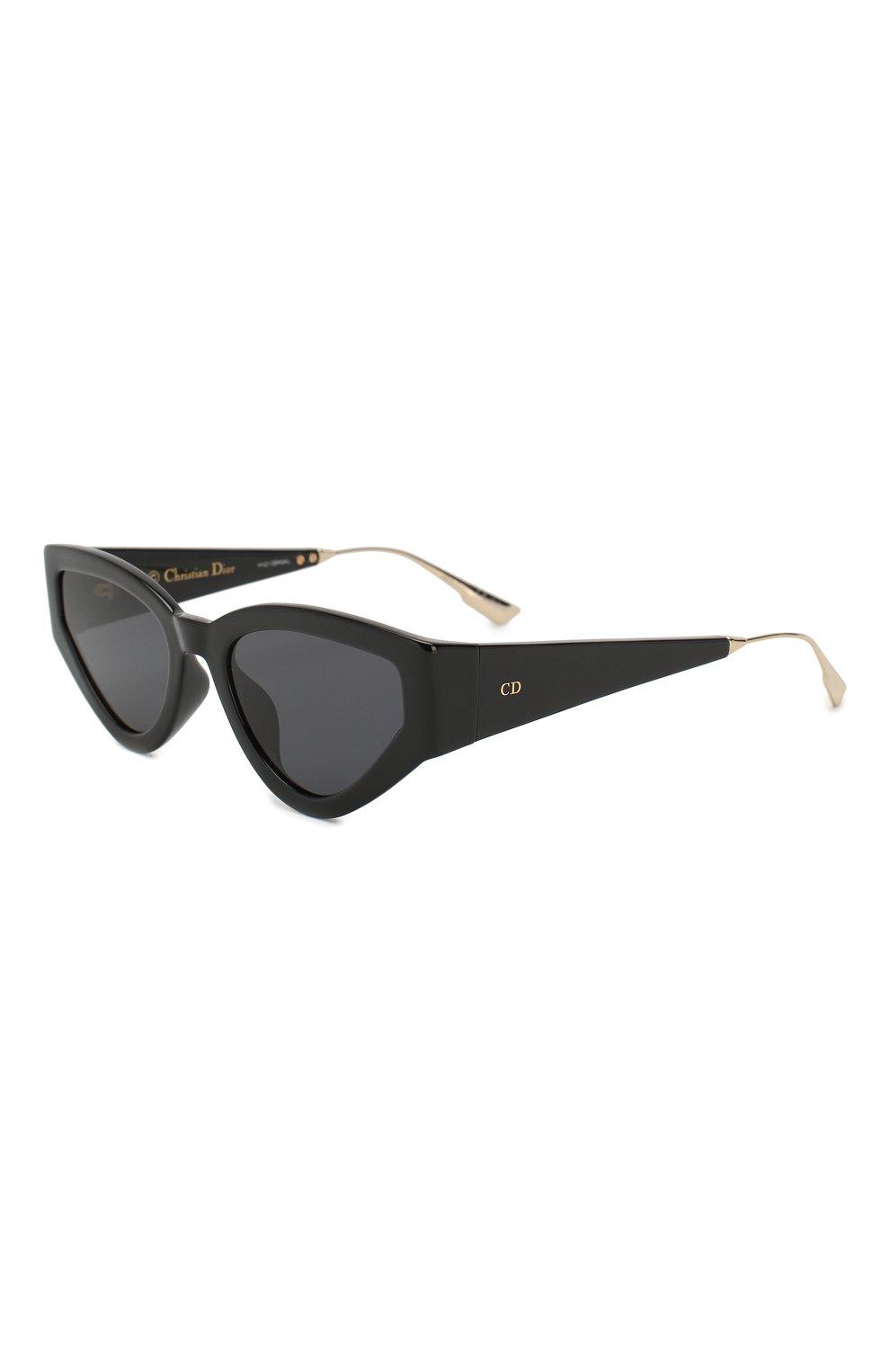 Женские солнцезащитные очки DIOR черного цвета, арт. CATSTYLEDI0R1 807 | Фото 1