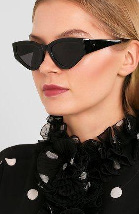 Женские солнцезащитные очки DIOR черного цвета, арт. CATSTYLEDI0R1 807 | Фото 2