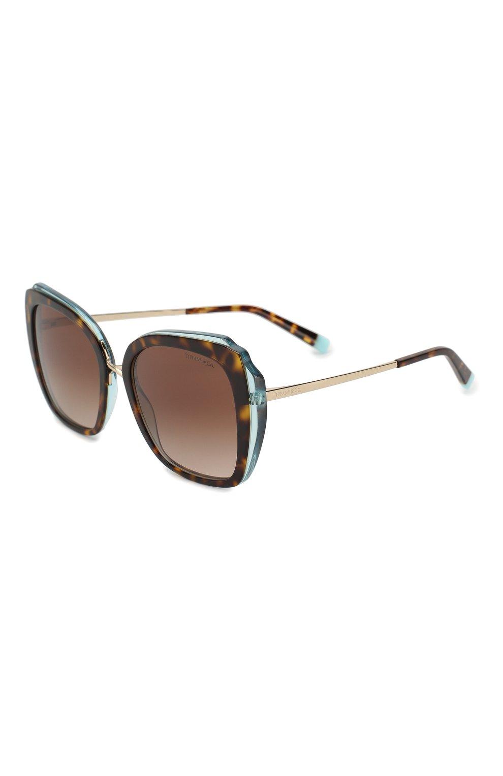 Женские солнцезащитные очки TIFFANY & CO. коричневого цвета, арт. 4160-82863B | Фото 1