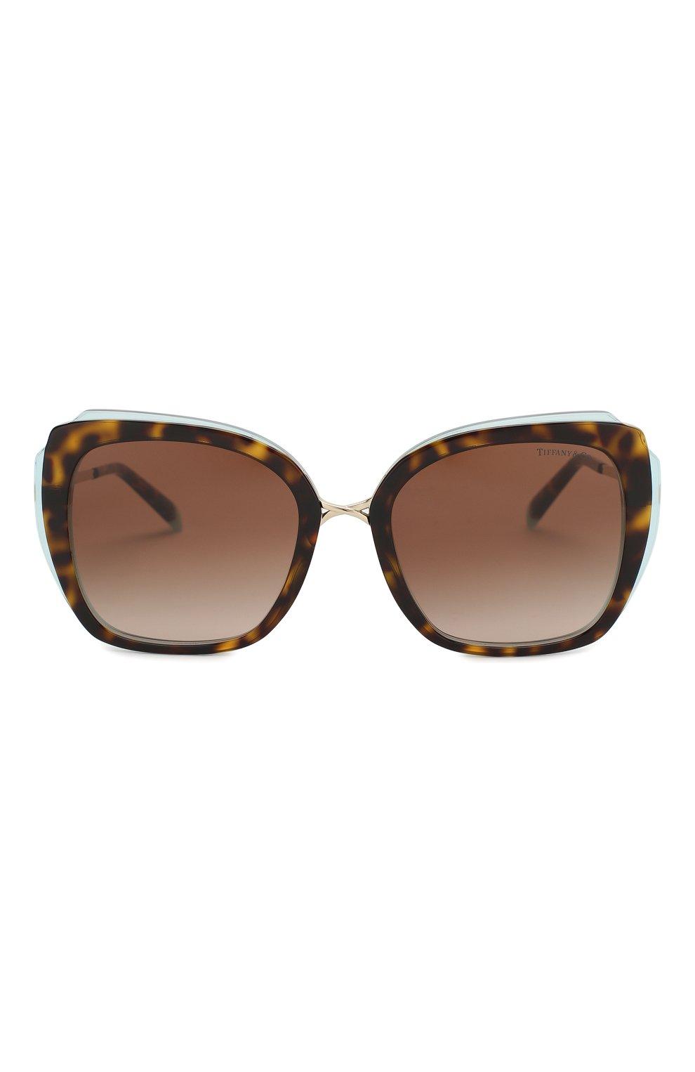 Женские солнцезащитные очки TIFFANY & CO. коричневого цвета, арт. 4160-82863B | Фото 3