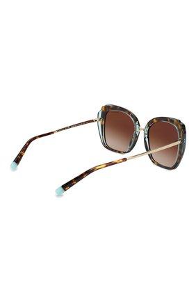 Женские солнцезащитные очки TIFFANY & CO. коричневого цвета, арт. 4160-82863B | Фото 4