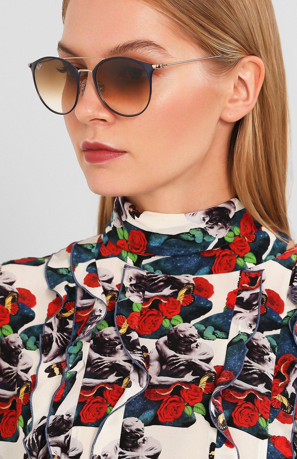 Женские солнцезащитные очки RAY-BAN коричневого цвета, арт. 3546-917551 | Фото 2