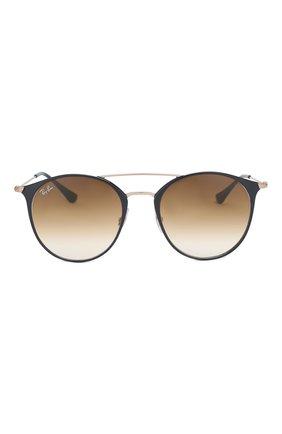 Женские солнцезащитные очки RAY-BAN коричневого цвета, арт. 3546-917551 | Фото 3