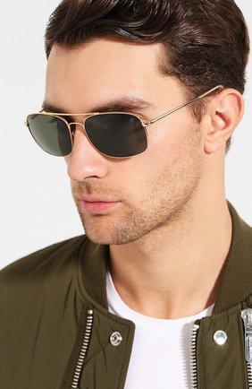 Мужские солнцезащитные очки RAY-BAN золотого цвета, арт. 3611-001/31 | Фото 2