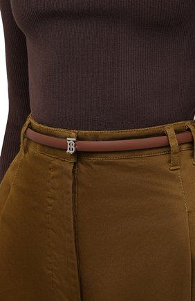 Женский кожаный ремень BURBERRY коричневого цвета, арт. 8011700   Фото 2