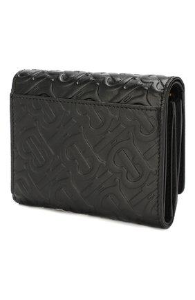 Женские кожаный кошелек BURBERRY черного цвета, арт. 8011502   Фото 2
