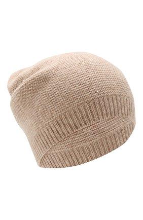 Женский кашемировая шапка WILLIAM SHARP бежевого цвета, арт. A104-1 | Фото 1