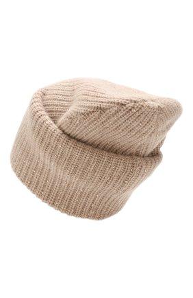 Женский кашемировая шапка WILLIAM SHARP бежевого цвета, арт. A61-13 | Фото 2