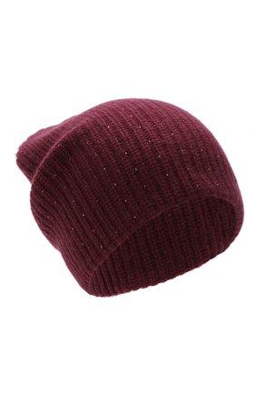 Женский кашемировая шапка WILLIAM SHARP бордового цвета, арт. A61-13 | Фото 1