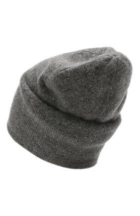 Женский кашемировая шапка WILLIAM SHARP темно-серого цвета, арт. HT 19-46 | Фото 2