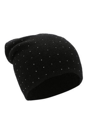 Женский кашемировая шапка WILLIAM SHARP черного цвета, арт. HT 19-46 | Фото 1
