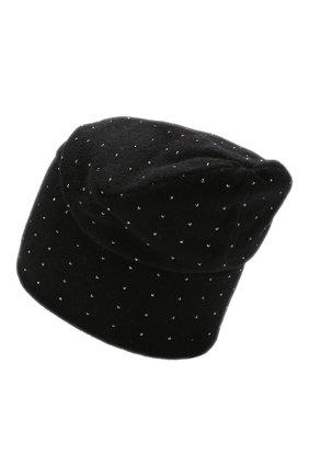 Женский кашемировая шапка WILLIAM SHARP черного цвета, арт. HT 19-46 | Фото 2