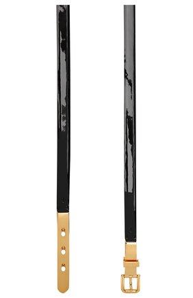 Женский кожаный ремень RALPH LAUREN черного цвета, арт. 408749997 | Фото 2 (Статус проверки: Проверена категория)