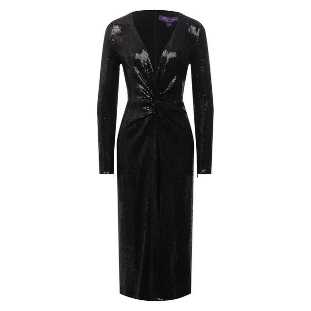 Платье с пайетками Ralph Lauren