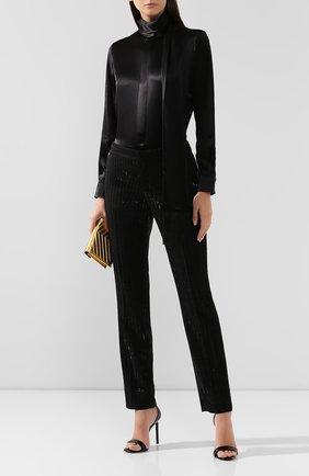 Женская шелковая блузка RALPH LAUREN черного цвета, арт. 290775997 | Фото 2