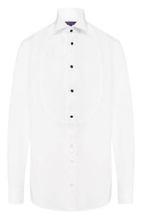 Женская хлопковая рубашка RALPH LAUREN белого цвета, арт. 290772214 | Фото 1
