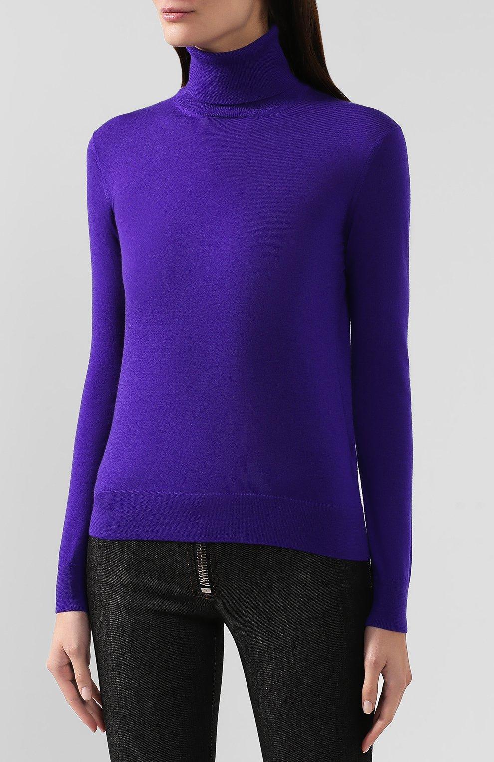 Женская кашемировая водолазка RALPH LAUREN фиолетового цвета, арт. 290615195 | Фото 3