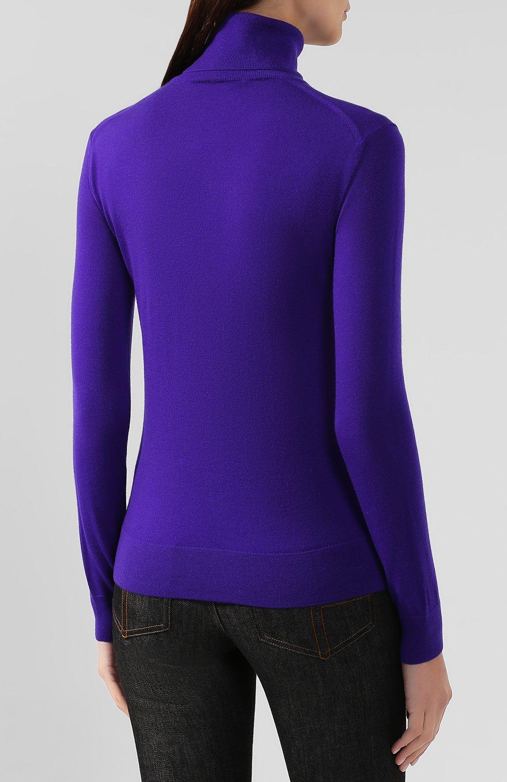 Женская кашемировая водолазка RALPH LAUREN фиолетового цвета, арт. 290615195 | Фото 4