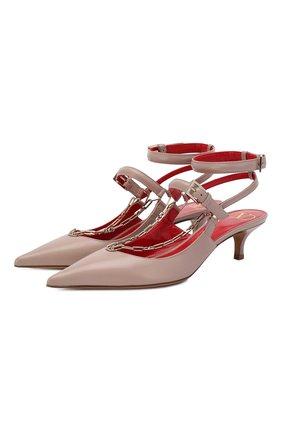 Кожаные туфли Valentino Garavani Chain | Фото №1