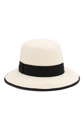 Женская шерстяная шляпа GIORGIO ARMANI черно-белого цвета, арт. 797314/9A510 | Фото 1