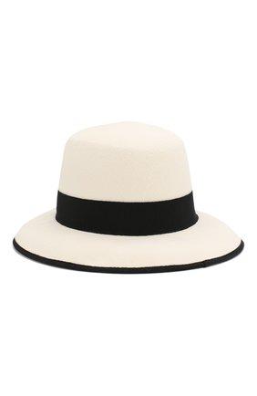 Женская шерстяная шляпа GIORGIO ARMANI черно-белого цвета, арт. 797314/9A510 | Фото 2