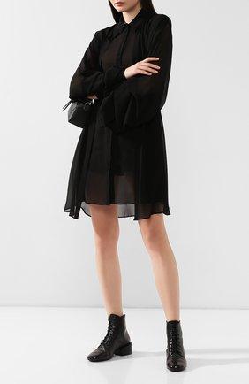 Женские кожаные ботинки MARSELL черного цвета, арт. MW5580/VACCH.STRACCI0 | Фото 2