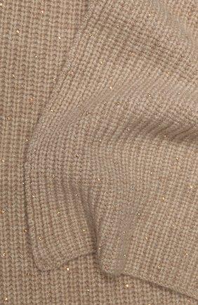 Женский кашемировый шарф WILLIAM SHARP бежевого цвета, арт. A111-1   Фото 2