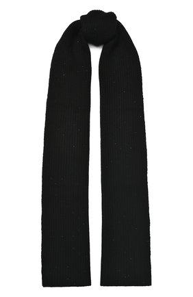 Женский кашемировый шарф WILLIAM SHARP черного цвета, арт. A111-1   Фото 1