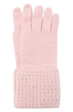 Женские кашемировые перчатки WILLIAM SHARP светло-розового цвета, арт. A113-1   Фото 1