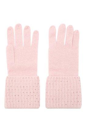 Женские кашемировые перчатки WILLIAM SHARP светло-розового цвета, арт. A113-1   Фото 2