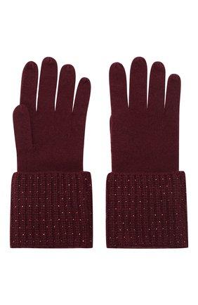 Женские кашемировые перчатки WILLIAM SHARP бордового цвета, арт. A113-1   Фото 2