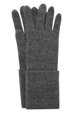 Женские кашемировые перчатки WILLIAM SHARP темно-серого цвета, арт. A120-1   Фото 1
