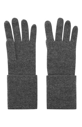 Женские кашемировые перчатки WILLIAM SHARP темно-серого цвета, арт. A120-1   Фото 2