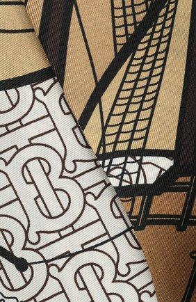 Женская шелковый платок для волос BURBERRY черно-белого цвета, арт. 8021946 | Фото 2