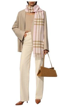Мужские кашемировый шарф BURBERRY розового цвета, арт. 8016396 | Фото 2