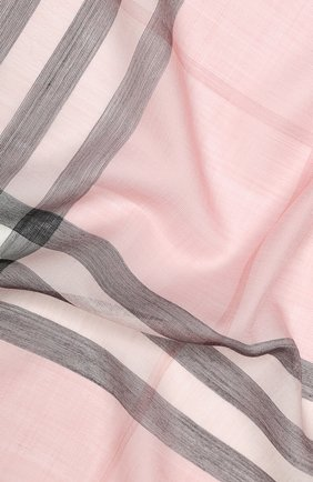 Мужские шарф из смеси шерсти и шелка BURBERRY розового цвета, арт. 8015403 | Фото 2