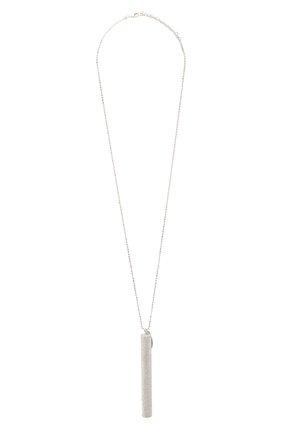 Женская серебряный кулон на цепочке BRUNELLO CUCINELLI серебряного цвета, арт. MC0W9V066 | Фото 1