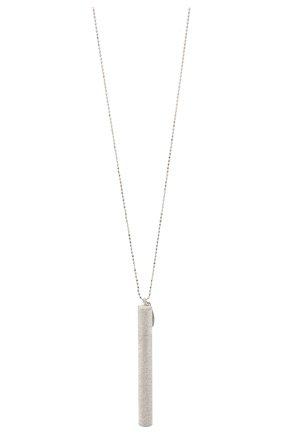 Женская серебряный кулон на цепочке BRUNELLO CUCINELLI серебряного цвета, арт. MC0W9V066   Фото 2