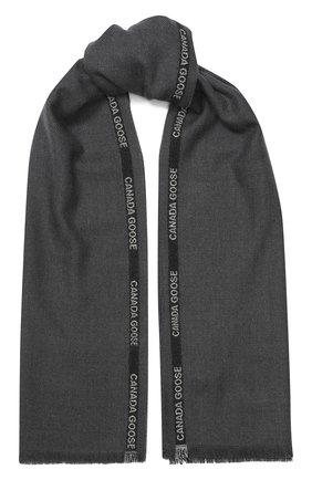 Мужские шерстяной шарф CANADA GOOSE серого цвета, арт. 5352L | Фото 1
