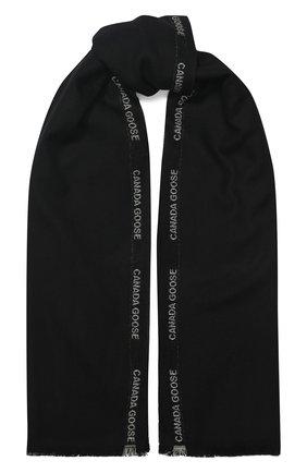 Мужские шерстяной шарф CANADA GOOSE черного цвета, арт. 5352L | Фото 1