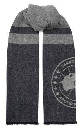 Мужские шерстяной шарф CANADA GOOSE темно-синего цвета, арт. 5279L | Фото 1