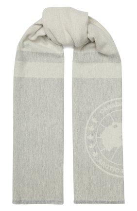 Мужские шерстяной шарф CANADA GOOSE серого цвета, арт. 5279L | Фото 1