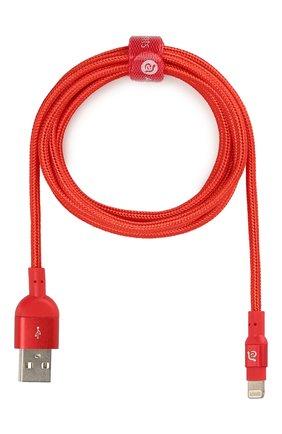 Мужской кабель peak ii lightning/usb ADAM ELEMENTS красного цвета, арт. ACBAD200MBFRPRD | Фото 1