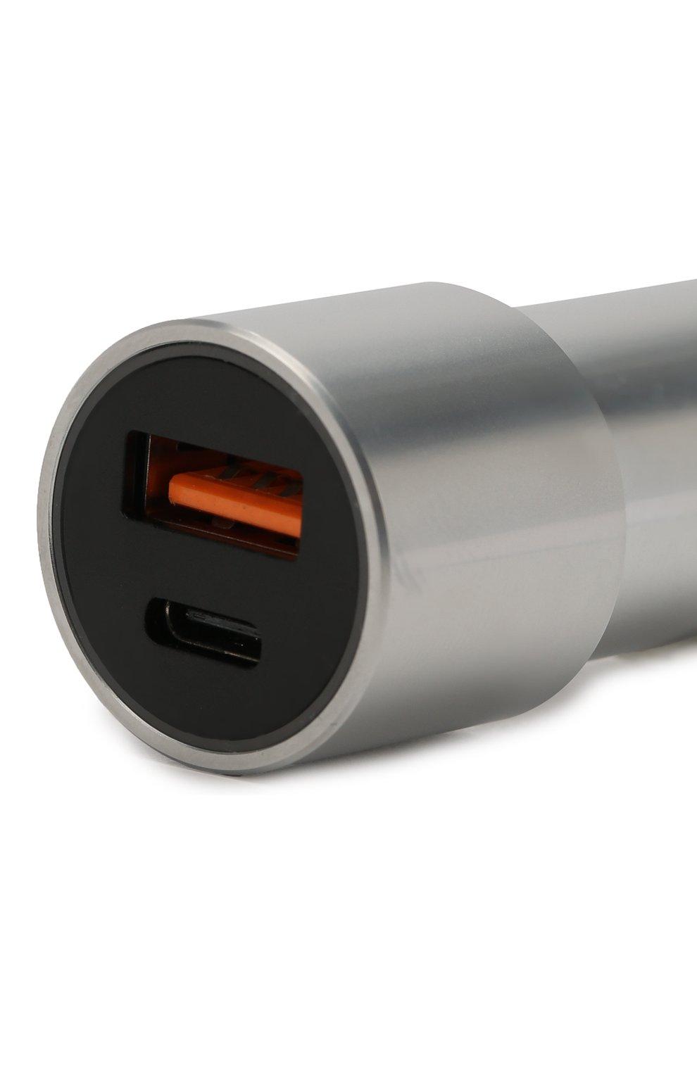 Мужской автомобильное зарядное устройство UBEAR серого цвета, арт. CC04GR01-AD | Фото 3