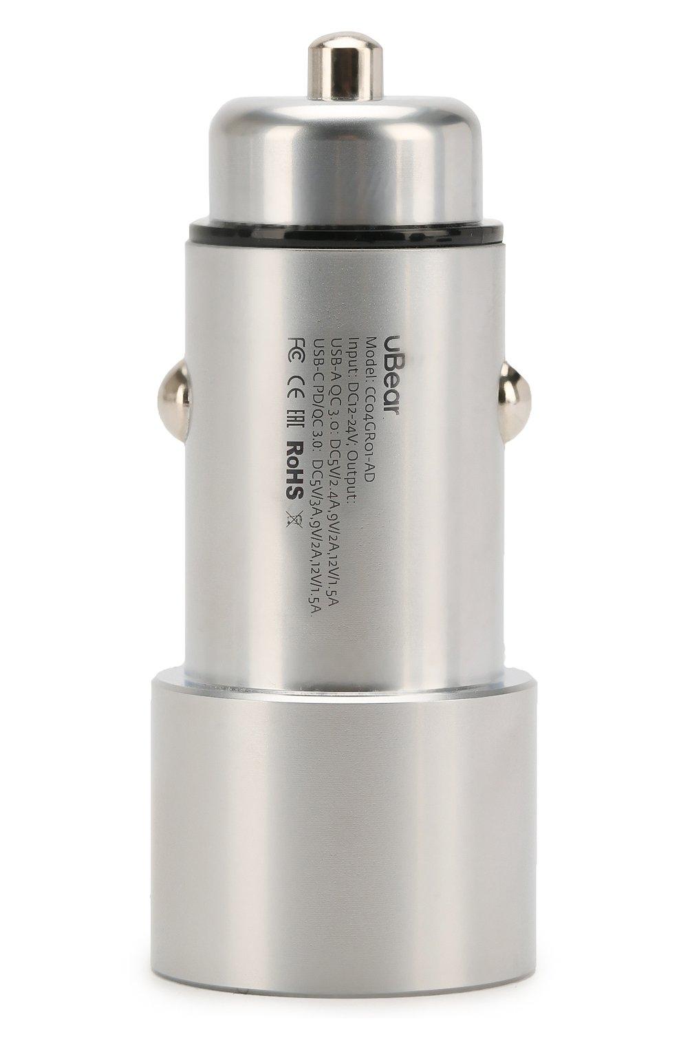 Мужского автомобильное зарядное устройство UBEAR серого цвета, арт. CC03GR01-AD   Фото 2