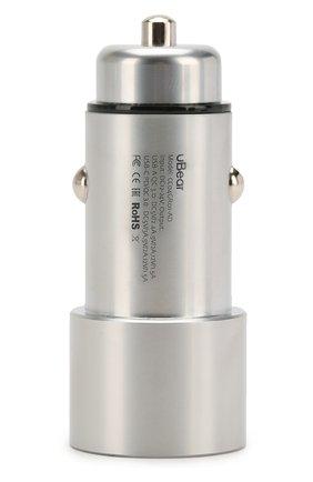 Мужского автомобильное зарядное устройство UBEAR серого цвета, арт. CC03GR01-AD | Фото 2