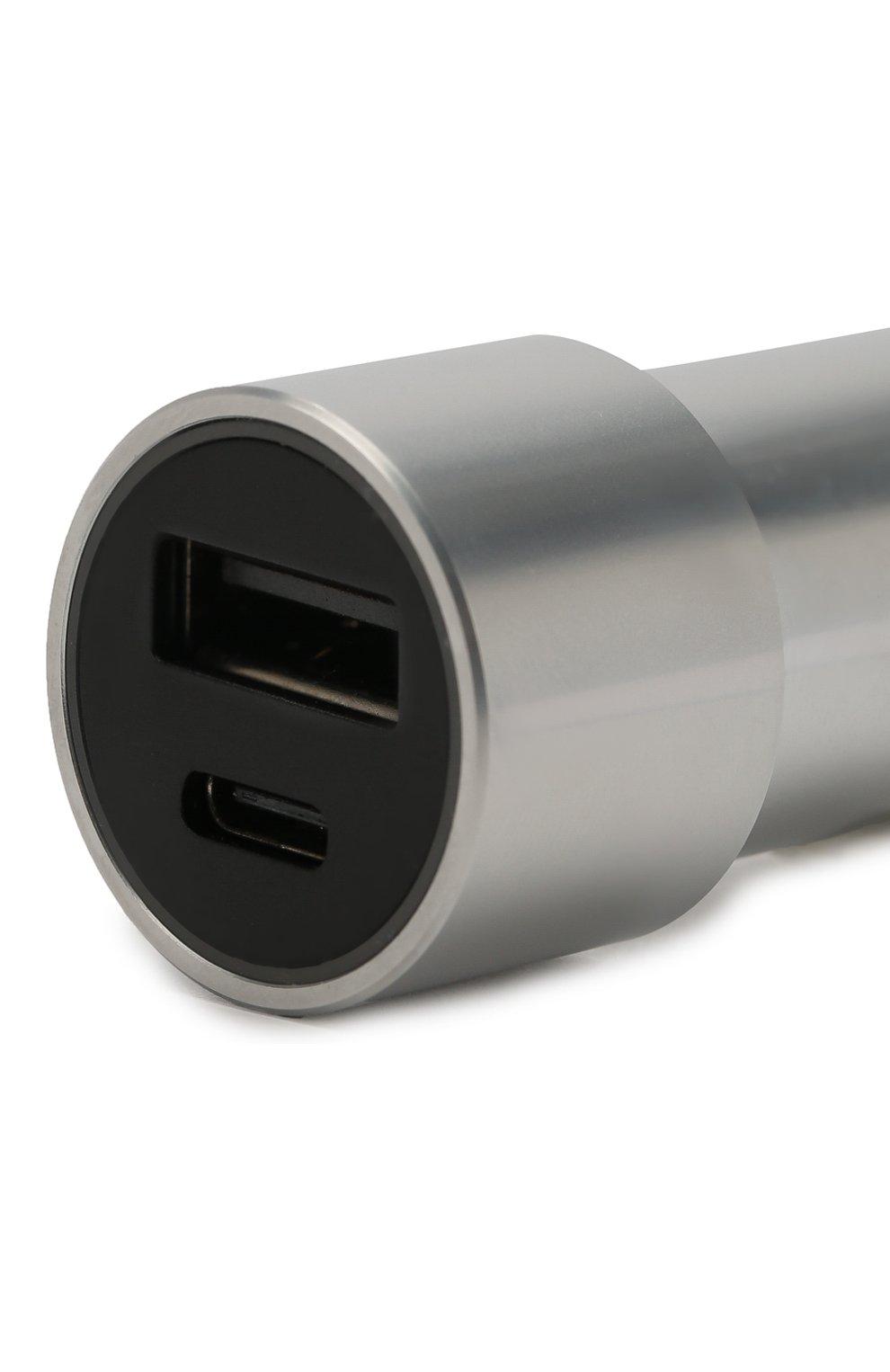 Мужского автомобильное зарядное устройство UBEAR серого цвета, арт. CC03GR01-AD   Фото 3