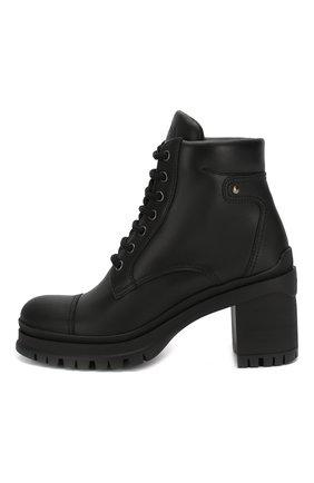 Женские кожаные ботильоны PRADA черного цвета, арт. 1T584L-3A6H-F0002-055 | Фото 2